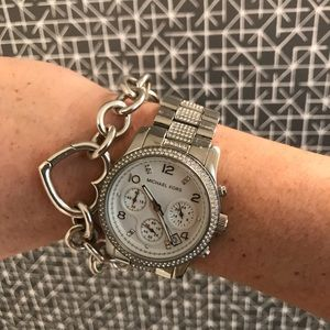 Michael Kors Swarovski Pave watch
